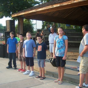 Brighton Kiwanis Award Spelling Bee Champs During Gazebo Concert Series