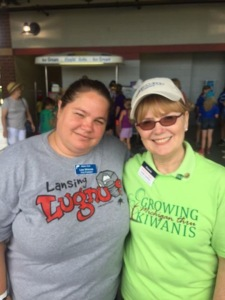(Left) Lisa Whinnie, Aktion Club Governor and Linda Lawther, (Right) Governor Elect for the Michigan District of Kiwanis.